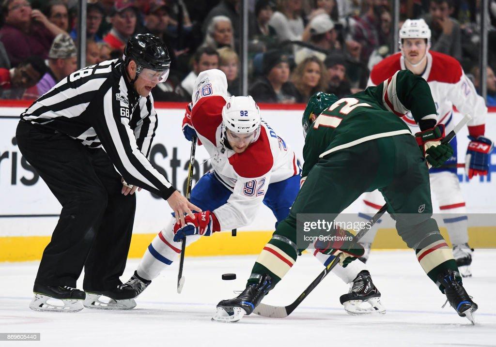 NHL: NOV 02 Canadiens at Wild : News Photo
