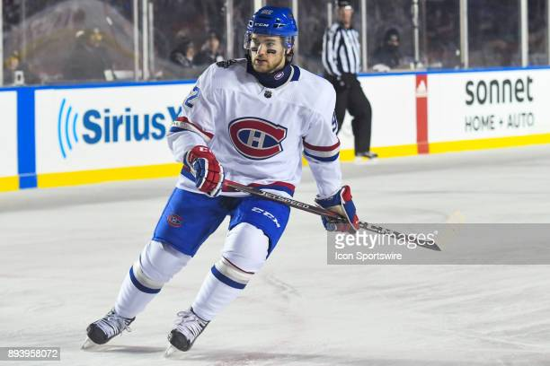 Montreal Canadiens Center Jonathan Drouin skates and leans on his left during the Montreal Canadiens versus the Ottawa Senators NHL100 Classic game...