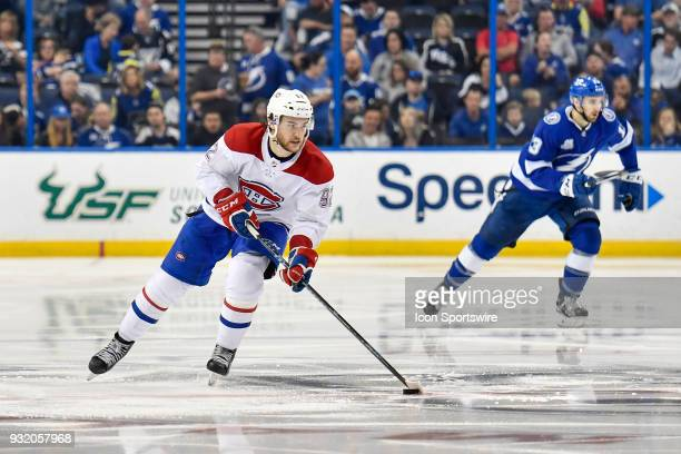 Montreal Canadiens center Jonathan Drouin skates through neutral ice during the third period of an NHL game between the Montreal Canadiens and the...