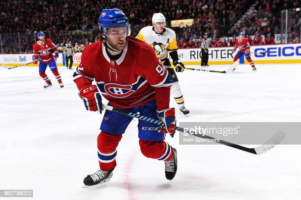 Montreal Canadiens Center Jonathan Drouin skates while looking on his left during the Pittsburgh Penguins versus the Montreal Canadiens game on March...