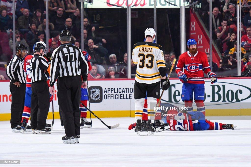 NHL: JAN 13 Bruins at Canadiens : News Photo
