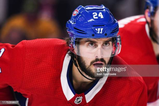 Montreal Canadiens center Phillip Danault waits for a faceoff during the Detroit Red Wings versus the Montreal Canadiens game on October 10 at Bell...