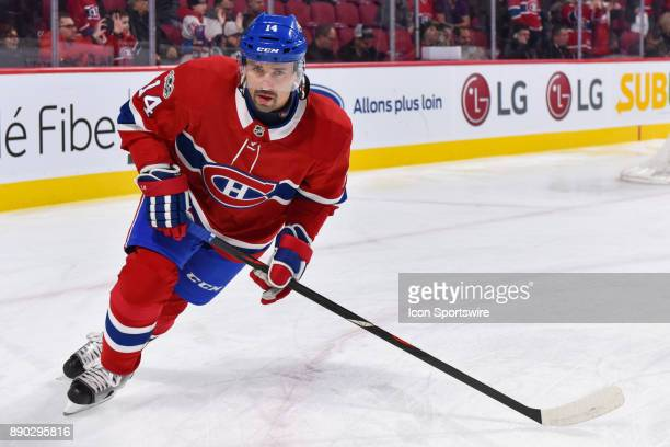 Montreal Canadiens Center Tomas Plekanec skates at warm up before the Calgary Flames versus the Montreal Canadiens game on December 7 at Bell Centre...