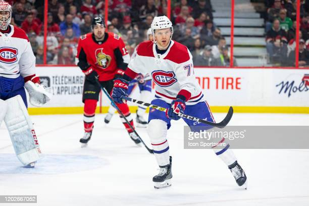 Montreal Canadiens Defenceman Brett Kulak skates with eyes on the play during third period National Hockey League action between the Montreal...