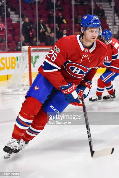 Montreal Canadiens Defenceman Jeff Petry skates at warm up before the Calgary Flames versus the Montreal Canadiens game on December 7 at Bell Centre...