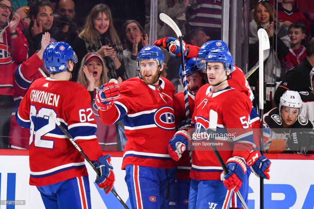 NHL: FEB 03 Ducks at Canadiens : News Photo