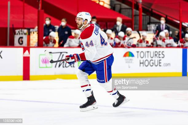 Montreal Canadiens Defenceman Joel Edmundson skates along the blue line during first period National Hockey League action between the Montreal...