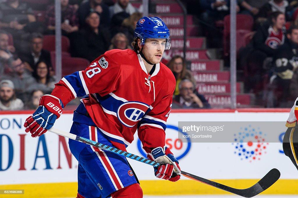 NHL: JAN 24 Flames at Canadiens : News Photo