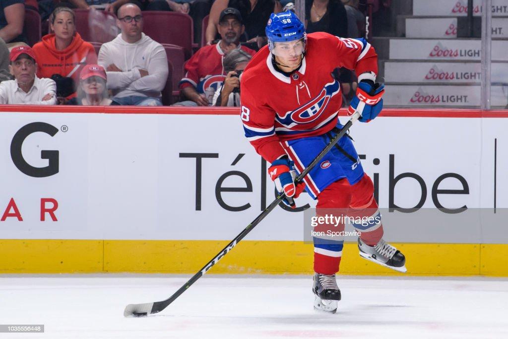 Montreal Canadiens defenseman Noah Juulsen shoots the puck during ... e33ed767d