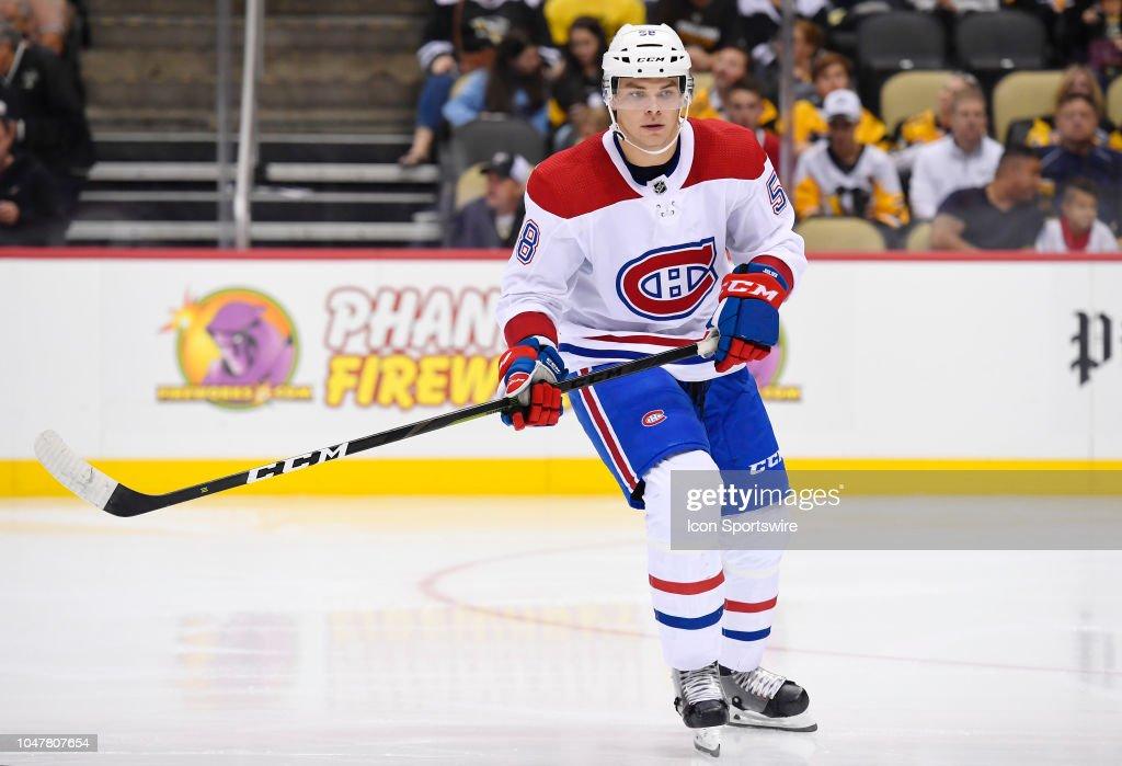 Montreal Canadiens Defenseman Noah Juulsen skates during the third ... 3868c1083