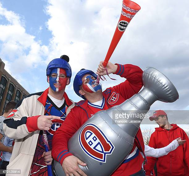 Montreal Canadiens fans before game two between the Montreal Canadiens and the Ottawa Senators in Game Two of the Eastern Conference Quarterfinals...