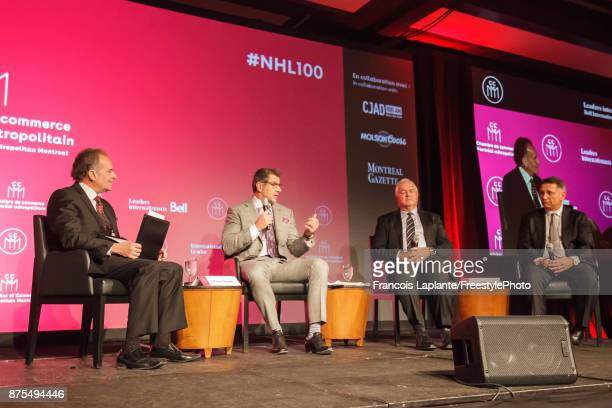 Montreal Canadiens General Manager Marc Bergevin along with Florida Panthers general manager Dale Tallon and Detroit Red Wings general manager Ken...