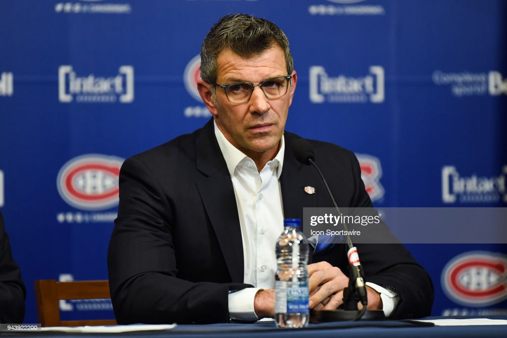 NHL: APR 9 Montreal Canadiens end of season press conference : News Photo