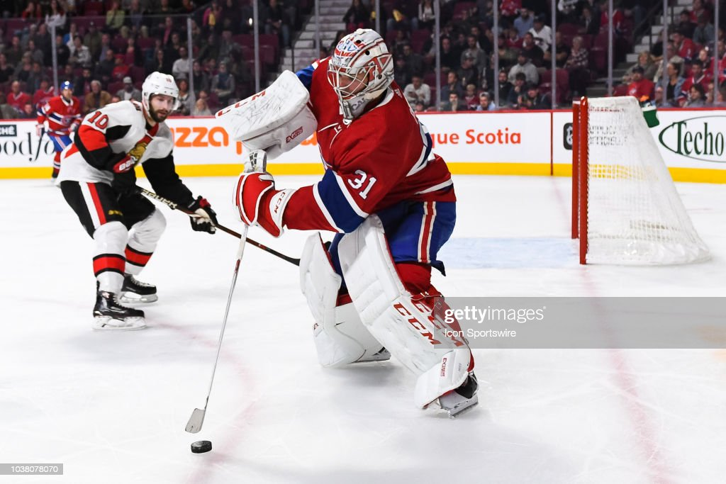 NHL: SEP 22 Preseason - Senators at Canadiens : News Photo