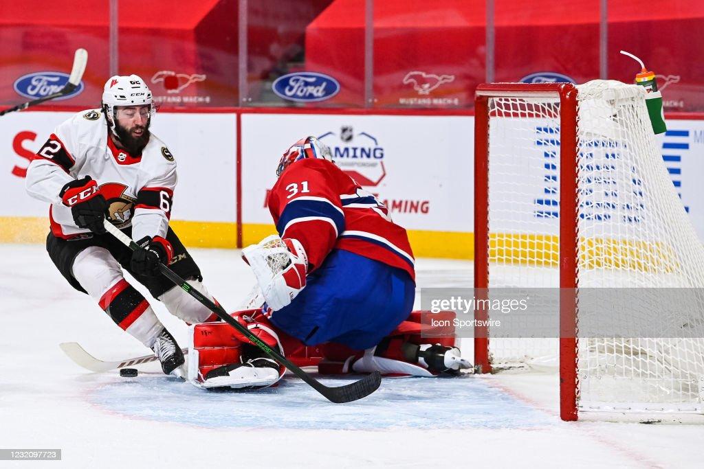 NHL: APR 03 Senators at Canadiens : News Photo