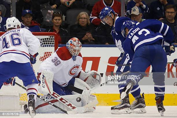 Montreal Canadiens goalie Mike Condon stops the Leaf attack on this effort Toronto Maple Leafs V Montreal Canadiens in 2nd period action in NHL pre...
