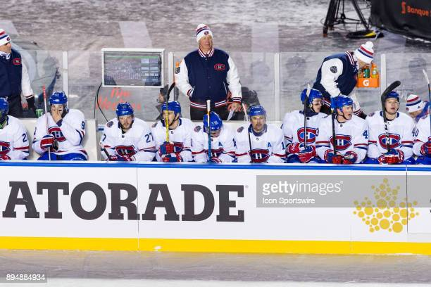 Montreal Canadiens Head Coach Claude Julien behind the bench during NHL 100 Classic first period National Hockey League action between the Montreal...