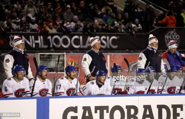 Montreal Canadiens head coach Claude Julien follows the play from the bench in a game against the Ottawa Senators during the 2017 Scotiabank NHL100...