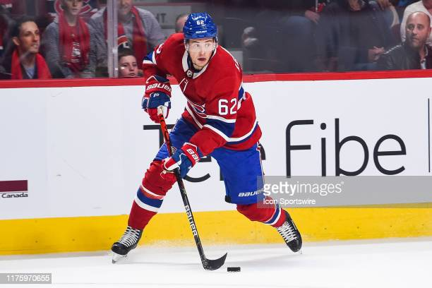 Montreal Canadiens left wing Artturi Lehkonen gains control of the puck during the St Louis Blues versus the Montreal Canadiens game on October 12 at...