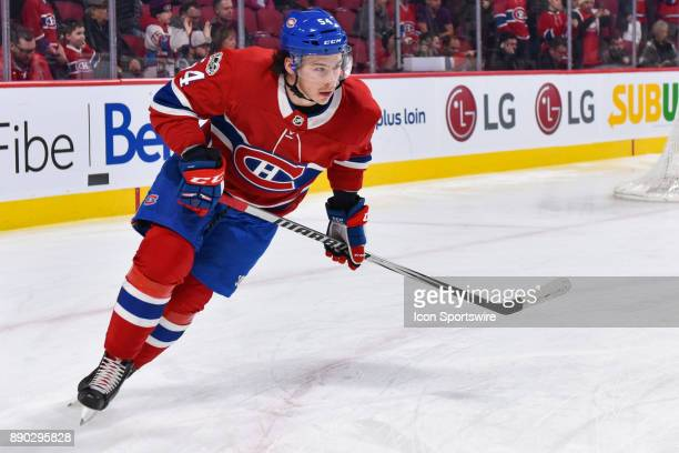 Montreal Canadiens Left Wing Charles Hudon skates at warm up before the Calgary Flames versus the Montreal Canadiens game on December 7 at Bell...