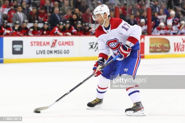 Montreal Canadiens left wing Ilya Kovalchuk skates in and scores the game winning goal in the shoot out of the National Hockey League game between...