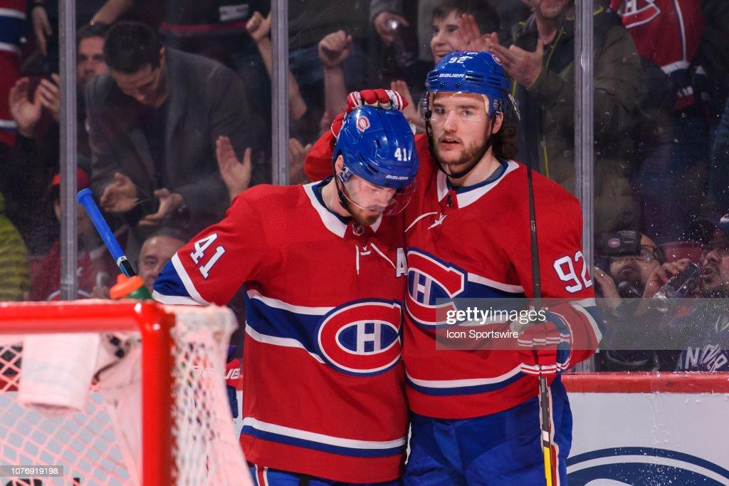 NHL: JAN 03 Canucks at Canadiens : News Photo
