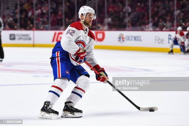 Montreal Canadiens left wing Jonathan Drouin skates in control with the puck getting ready to shoot during the Montreal Canadiens Scrimmage on...