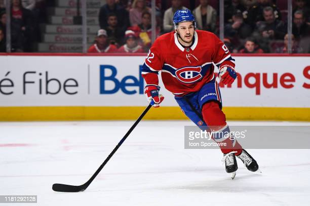 Montreal Canadiens left wing Jonathan Drouin skates while tracking the play on his left during the Los Angeles Kings versus the Montreal Canadiens...