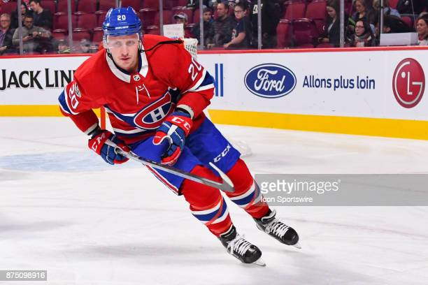 Montreal Canadiens left wing Nicolas Deslauriers first appearance in his new uniform at warm up before the Arizona Coyotes versus the Montreal...