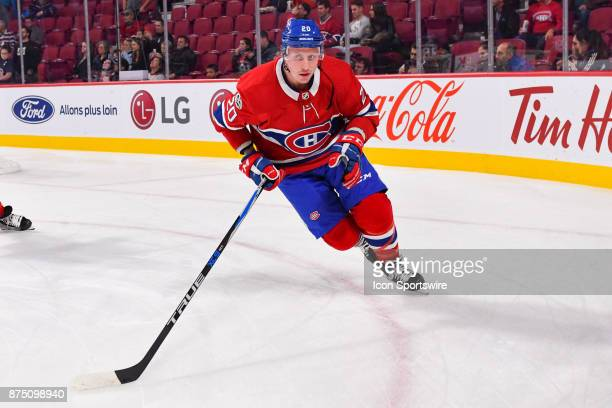 Montreal Canadiens left wing Nicolas Deslauriers skates in his new uniform at warm up before the Arizona Coyotes versus the Montreal Canadiens game...