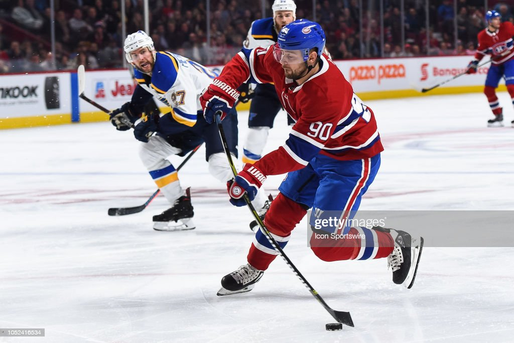 NHL: OCT 17 Blues at Canadiens : News Photo
