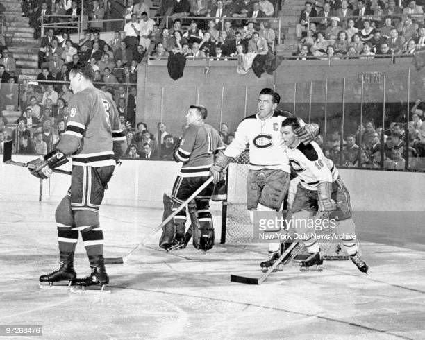 Montreal Canadiens' Maurice Richard and kid brother Henri embrace after they teamed together to score against the New York Rangers at Madison Square...