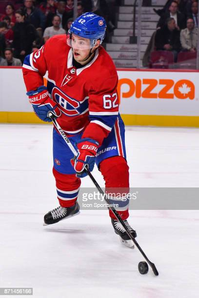 Montreal Canadiens Right Wing Artturi Lehkonen looks fot a target to pass the puck during the Las Vegas Golden Knights versus the Montreal Canadiens...