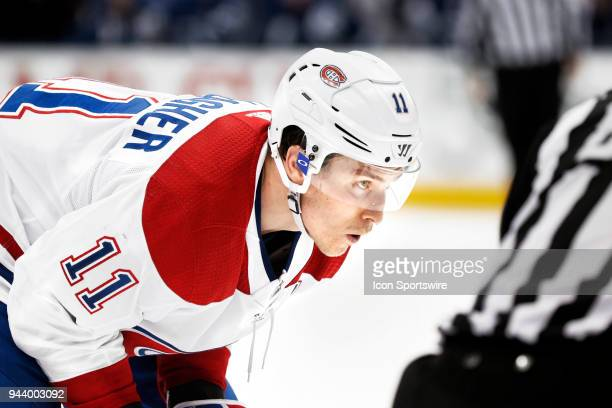 Montreal Canadiens Right Wing Brendan Gallagher during the final NHL 2018 regularseason game between the Montreal Canadiens and the Toronto Maple...