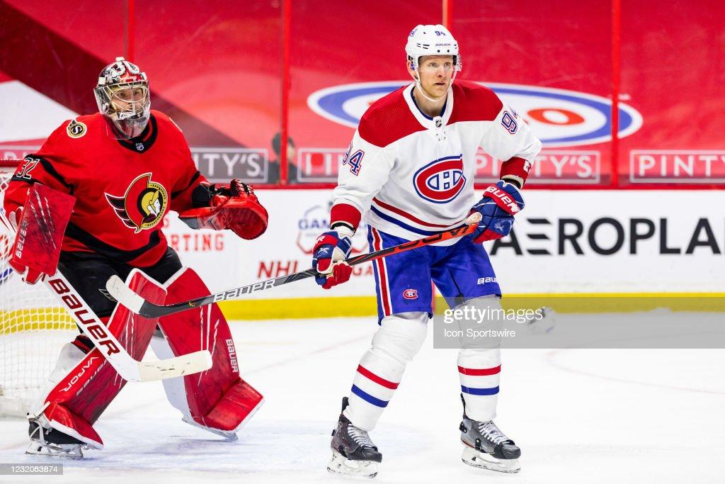 NHL: APR 01 Canadiens at Senators : News Photo
