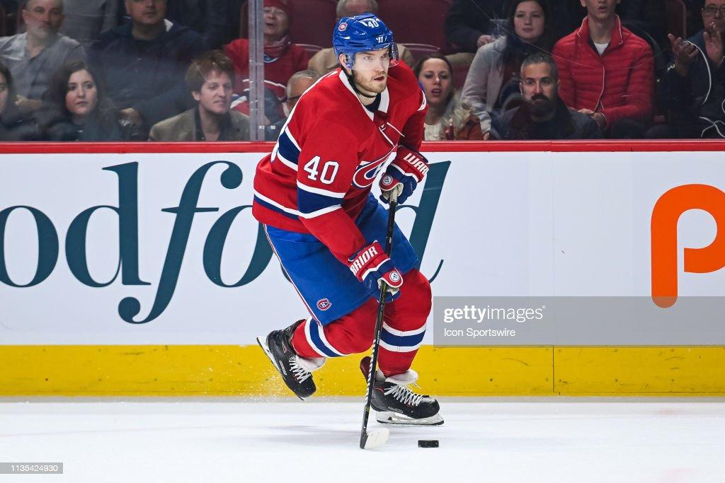 NHL: APR 06 Maple Leafs at Canadiens : News Photo