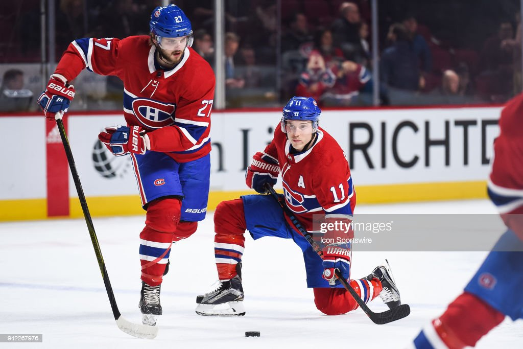 NHL: APR 03 Jets at Canadiens : News Photo