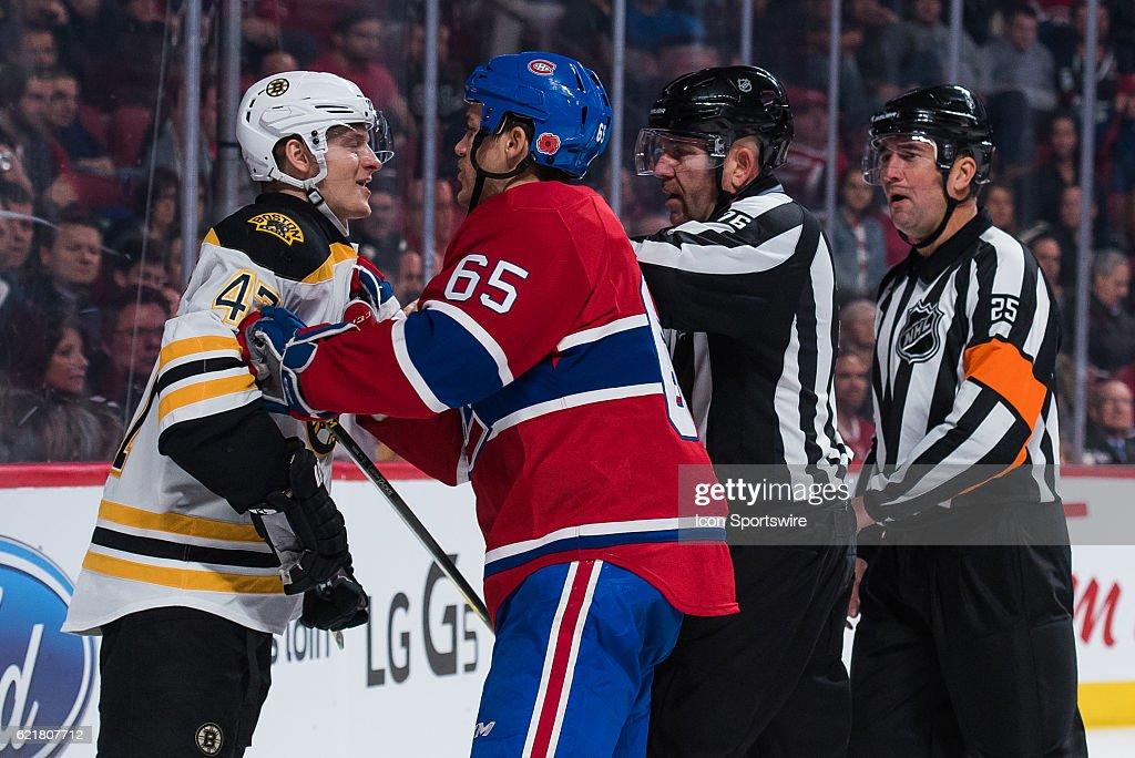 NHL: NOV 08 Bruins at Canadiens : News Photo