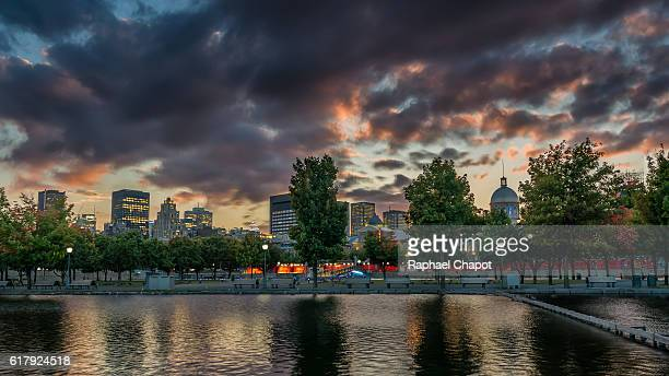 Montreal cityscape from the old port
