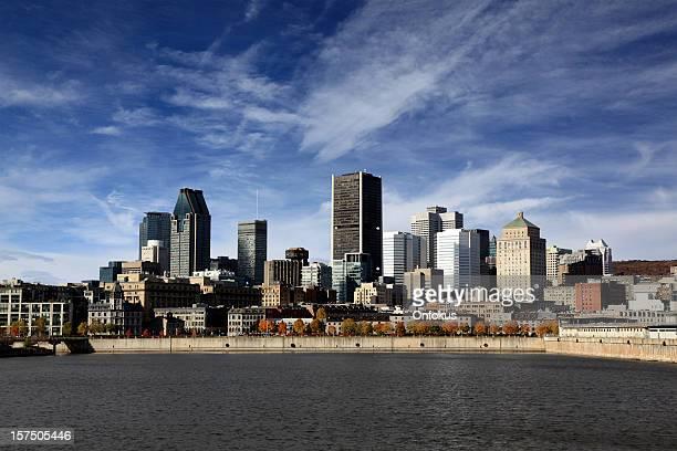 montreal paesaggio urbano in estate - montreal foto e immagini stock