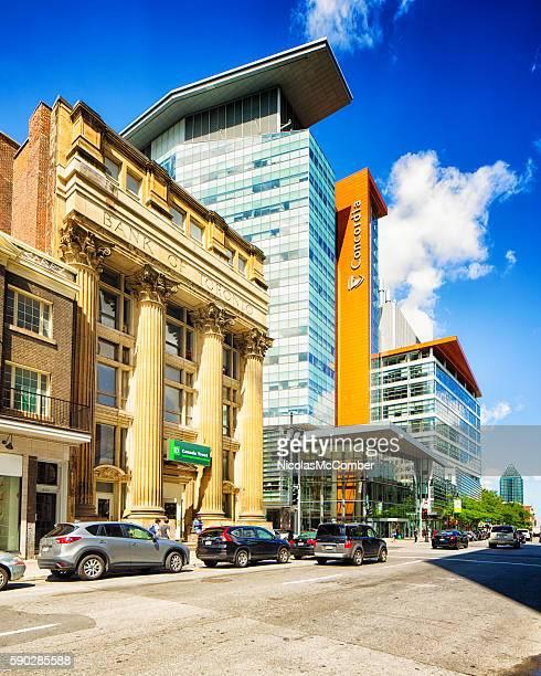Montreal Concordia University EV Building and Sainte-Catherine street