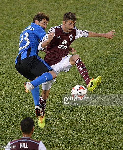 Montreal defender Hernan Bernardello tried to stop Colorado midfielder Jose Mari in the first half The Colorado Rapids hosted the Montreal Impact...