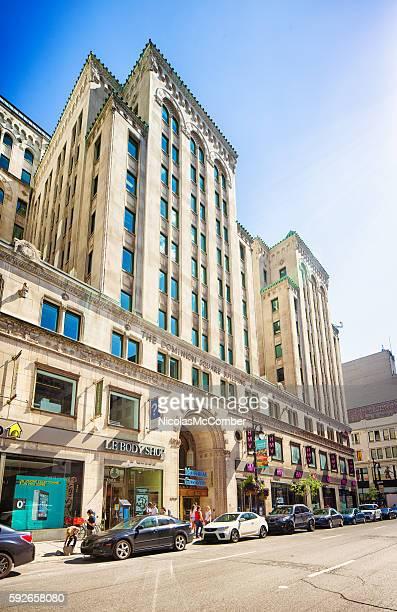 Montreal Dominion Square building on Sainte-Catherine street