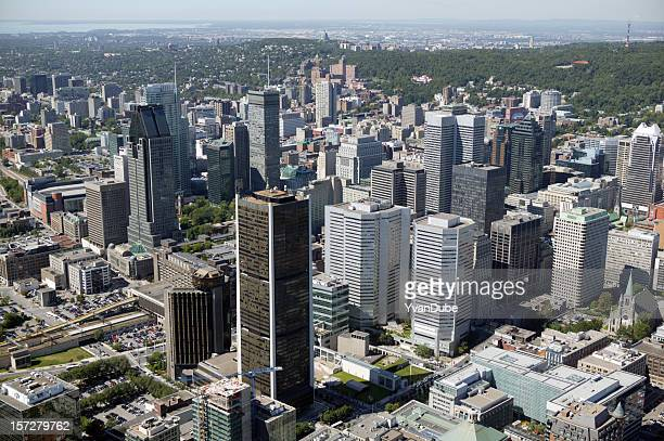 Montreal downtown aerial view