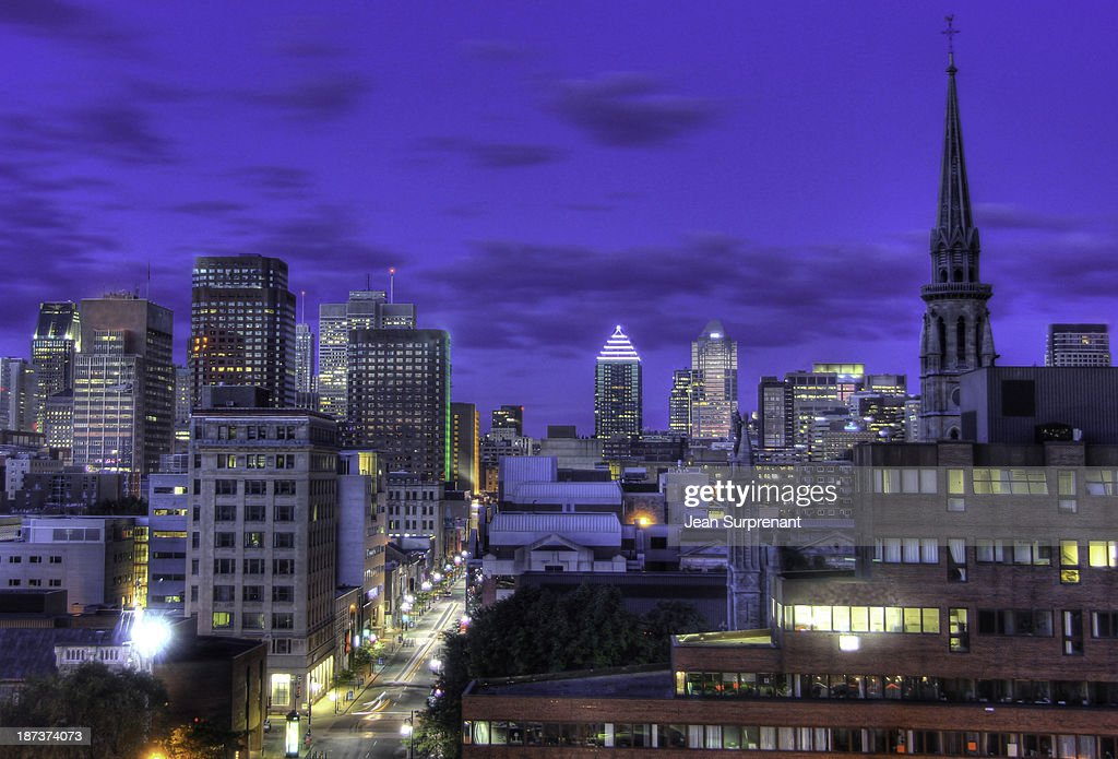 Montreal Downtown at dawn : Stock Photo