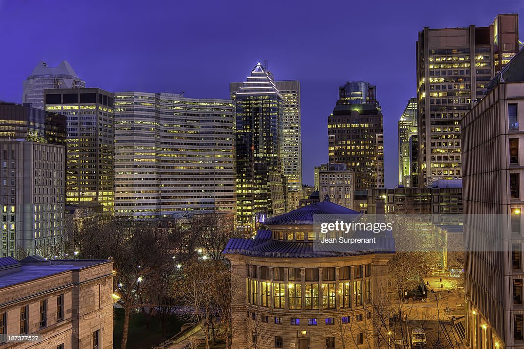 Montreal Downtown at Dusk HDR II : Stock Photo
