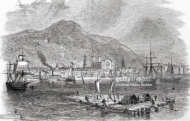 Montreal Harbour, Quebec, Canada In The Late 19Th Century. From North America, Published 1883.