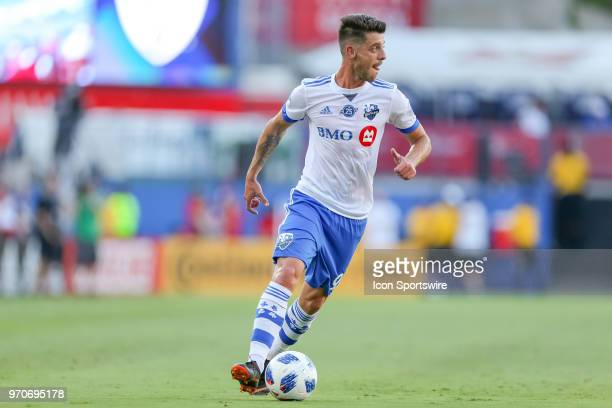 Montreal Impact midfielder Alejandro Silva dribbles the ball during the soccer match between the Montreal Impact and FC Dallas on June 9 2018 at...
