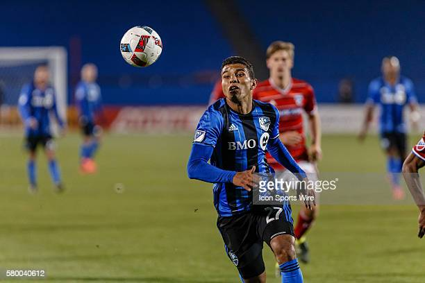 Montreal Impact midfielder Johan Venegas during the MLS match between the Montreal Impact and FC Dallas at Toyota Stadium in Frisco TX FC Dallas...