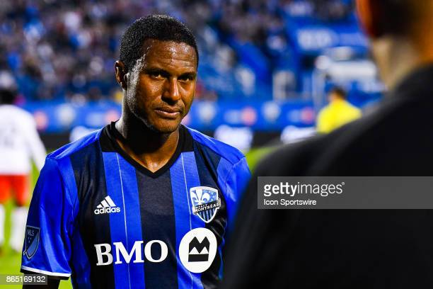Montreal Impact midfielder Patrice Bernier getting emotional leaving the field in Montreal for the last time and heading into retirement during the...